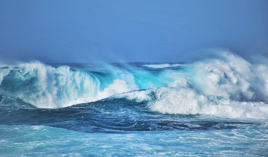 ocean, waves, sea