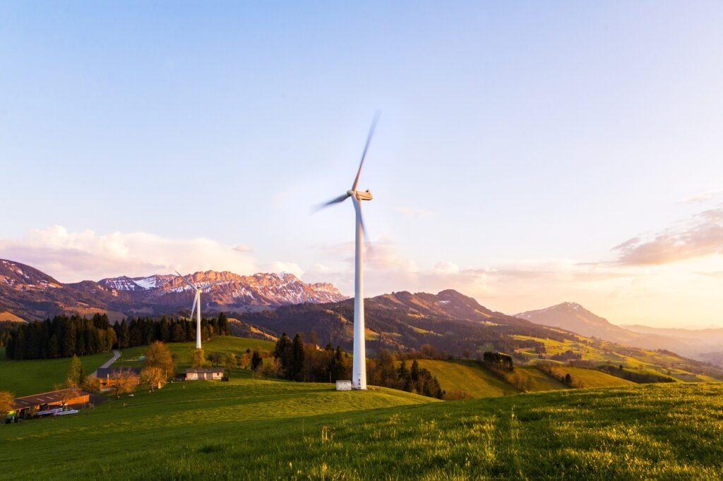 wind turbine, pinwheel, wind energy